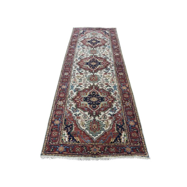 One-of-a-Kind Newcastle Re-Creation Oriental Hand-Knotted Ivory Area Rug by Astoria Grand