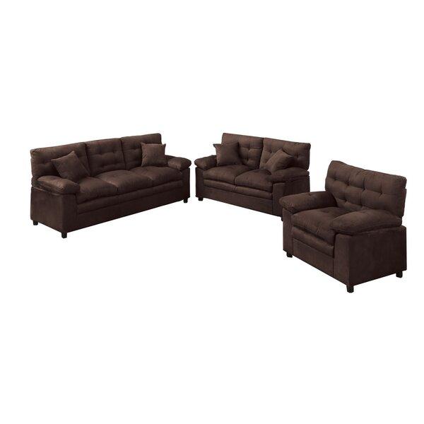 Red Barrel Studio Kingsport 3 Piece Living Room Set U0026 Reviews | Wayfair
