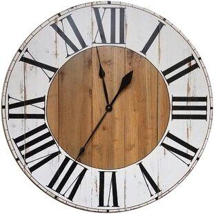 fresh idea whimsical clocks. Oversized Bryan Farmhouse Wall Clock Clocks You ll Love  Wayfair
