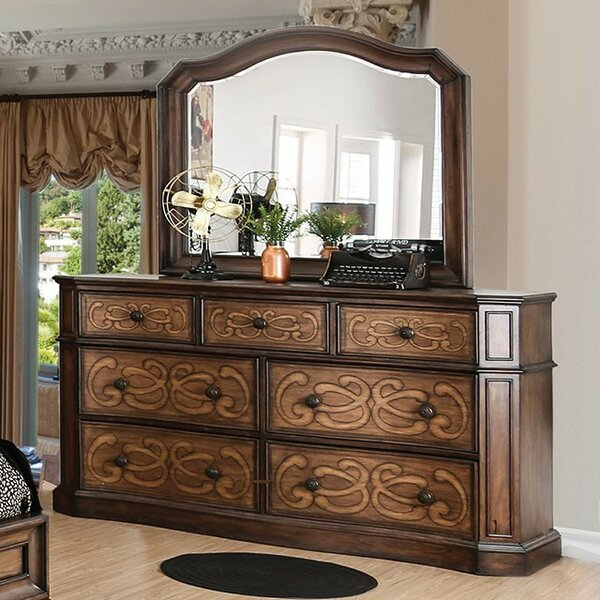 Gaskin 7 Drawer Dresser with Mirror by Astoria Grand