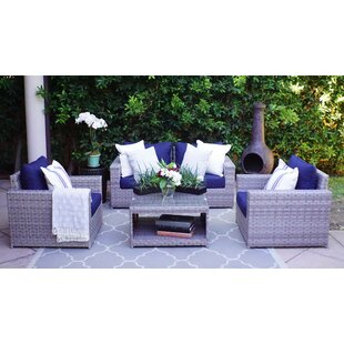 Burkley Olefin 5 Piece Sectional Seating Group By Longshore Tides
