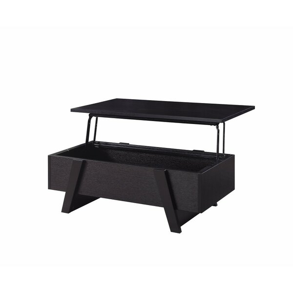 Grunwald Lift Top Extendable Sled Coffee Table With Storage By Wrought Studio