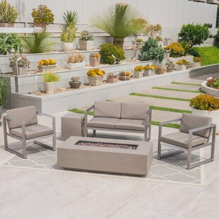 Maud Outdoor 5 Piece Sofa Seating Group with Cushions By Ivy Bronx