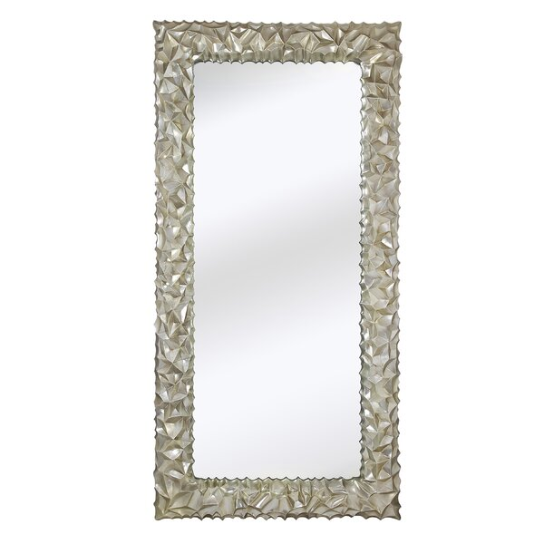 Huge Rectangular Shiny Chrome Decorative Glass Wall Mirror by Majestic Mirror