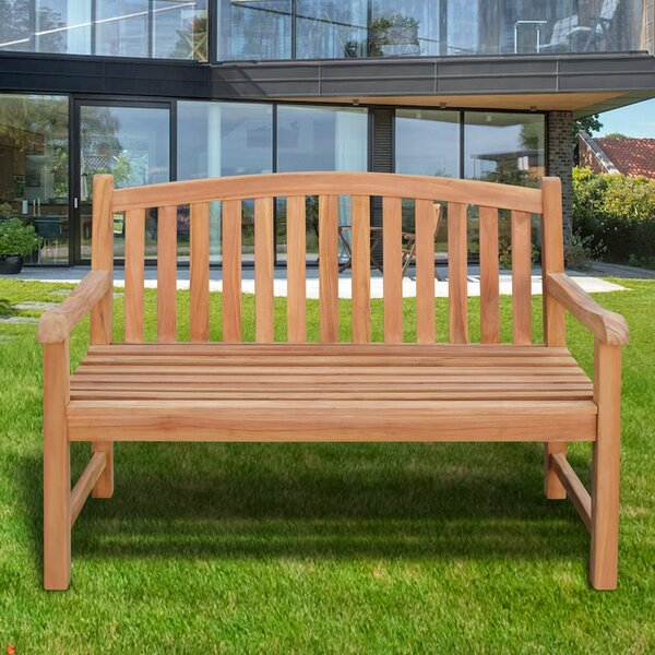Lydia Outdoor Terrace Teak Garden Bench by Millwood Pines
