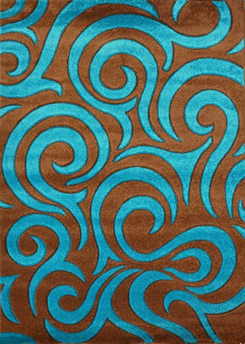 Turquoise Area Rug by Rug Tycoon