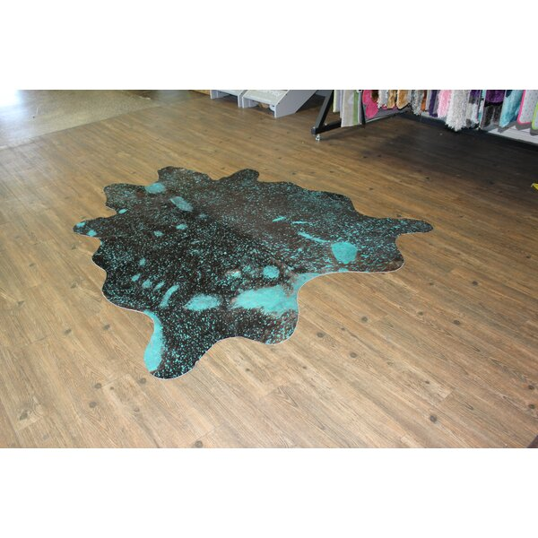 One-of-a-Kind Winterbourne Down Hand-Woven Brilliant Blue Area Rug by Bloomsbury Market