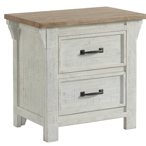 Blaris 2 Drawer Nightstand by Rosecliff Heights Rosecliff Heights