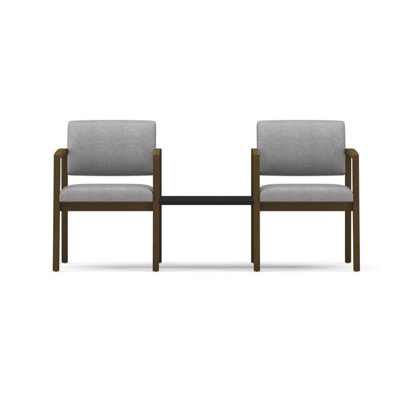 Lenox 2 Guest Chairs with Connecting Center Table by Lesro