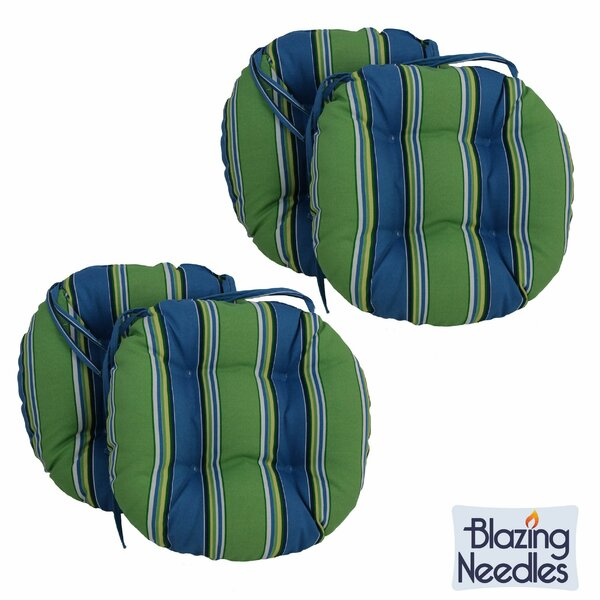 Indoor/Outdoor Patio Chair Cushion (Set of 4) by Blazing Needles