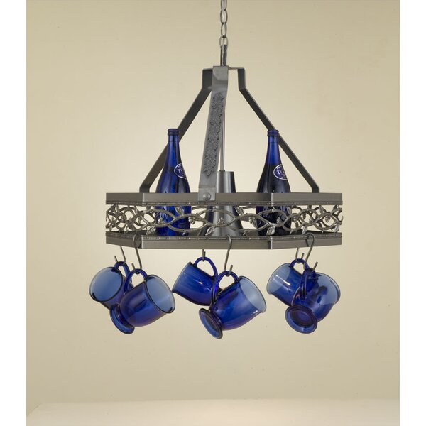 Napa Hanging Pot Rack with Light by Hi-Lite