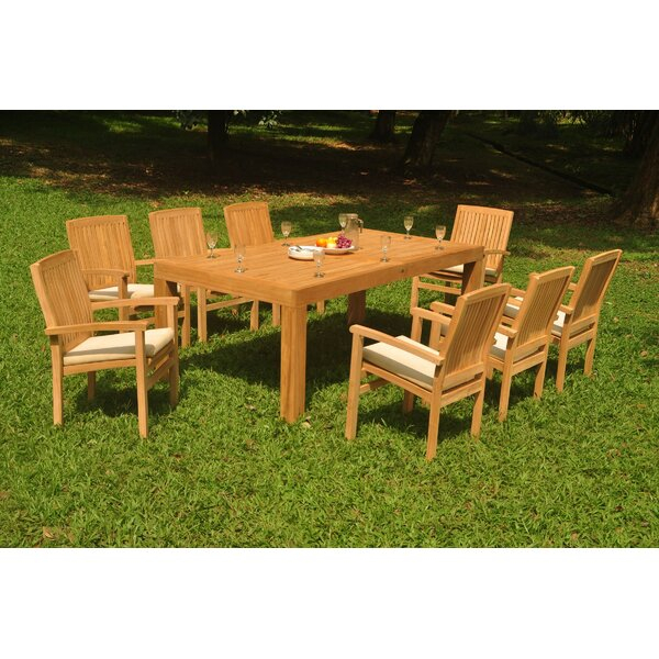 Ricka 9 Piece Teak Dining Set by Rosecliff Heights