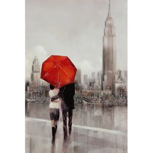 Modern Couple in New York by Ruane Manning Print on Painting by Wexford Home