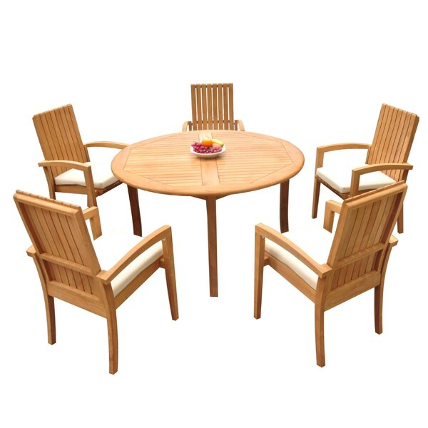 Wilkins 6 Piece Teak Dining Set Bayou Breeze W001959717