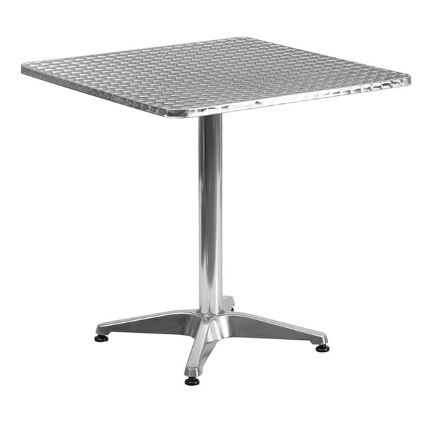 Bernard Square Aluminum Bar Table by Latitude Run