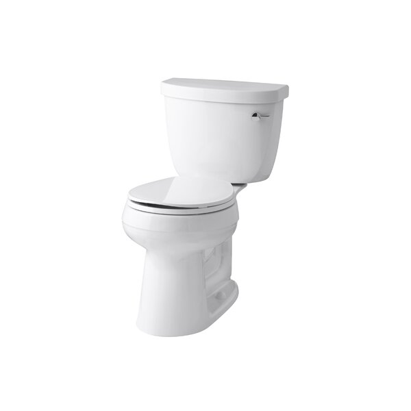 Cimarron Comfort Height 1.28 GPF Round Two-Piece Toilet by Kohler