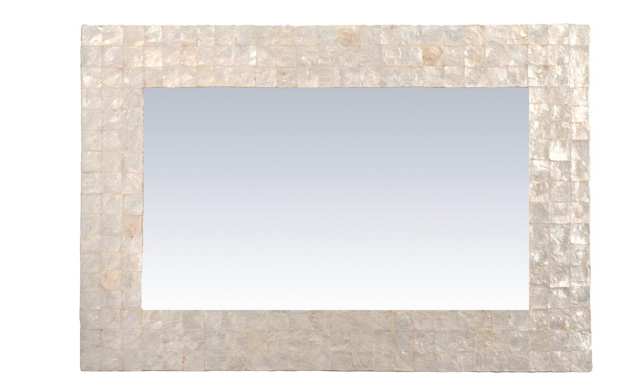 Mirror with capiz shell reviews birch lane - Capiz shell bathroom accessories ...