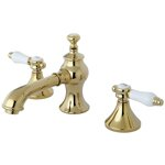 Bel-Air Vintage Widespread Bathroom Faucet with Pop-Up Drain