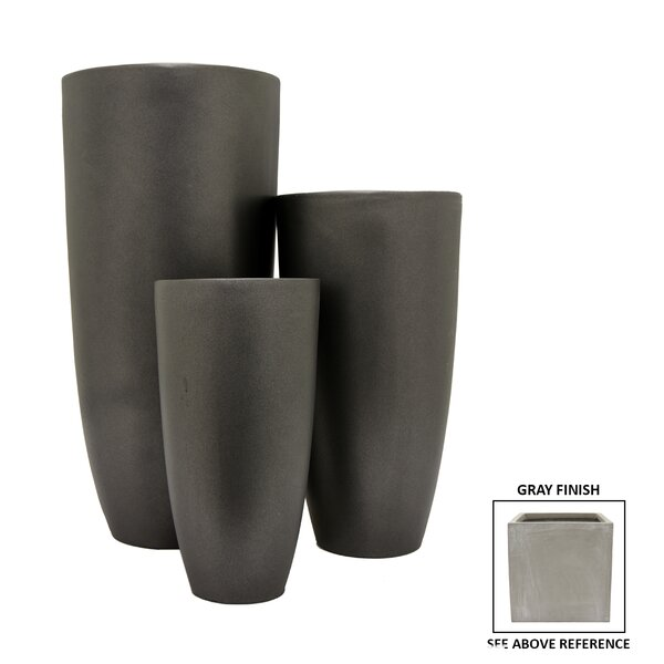 3-Piece Resin Pot Planter Set by Three Hands Co.