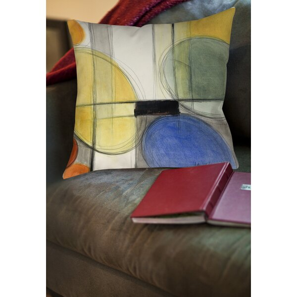 Geometric Printed Square Throw Pillow by East Urban Home  @ $21.99