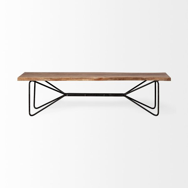Margaret Papillion III Wood Bench by 17 Stories