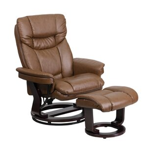 Mateo Manual Swivel Recliner with Ottoman