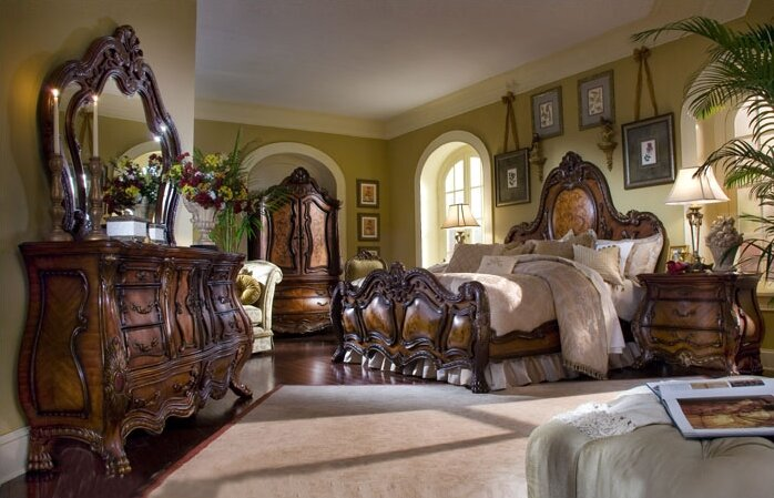 bed room sets michael amini chateau beauvais panel configurable bedroom 10249