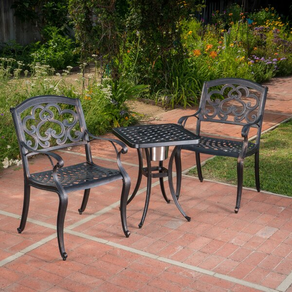 Riesel 3 Piece Bistro Set by Fleur De Lis Living