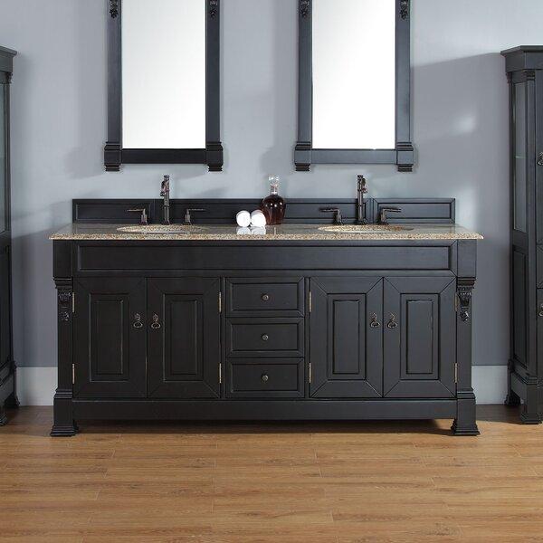 Bedrock 72 Double Bathroom Vanity Base by Darby Home Co