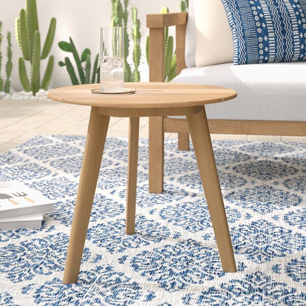 Largent Solid Wood Side Table by Mistana