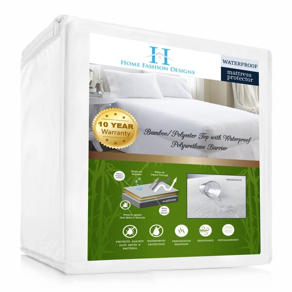 Aleena Deep Pocket Fitted Hypoallergenic Waterproof Mattress Protector by Home Fashion Designs