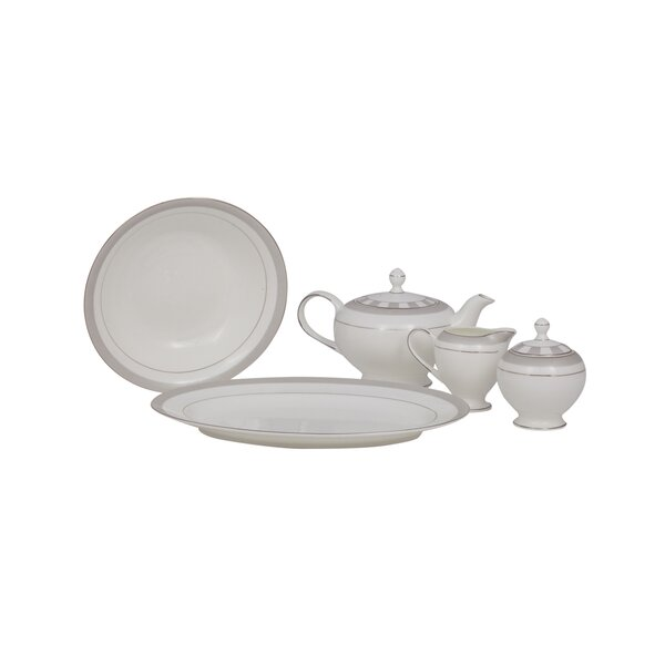 Spectrum Bone China Traditional Serving 5 Piece Dinnerware Set by Shinepukur Ceramics USA, Inc.