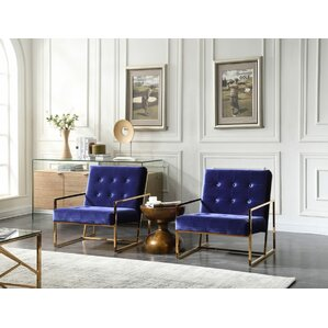 blue chairs for living room. Jayleen Side Chair Modern Metal Accent Chairs  AllModern