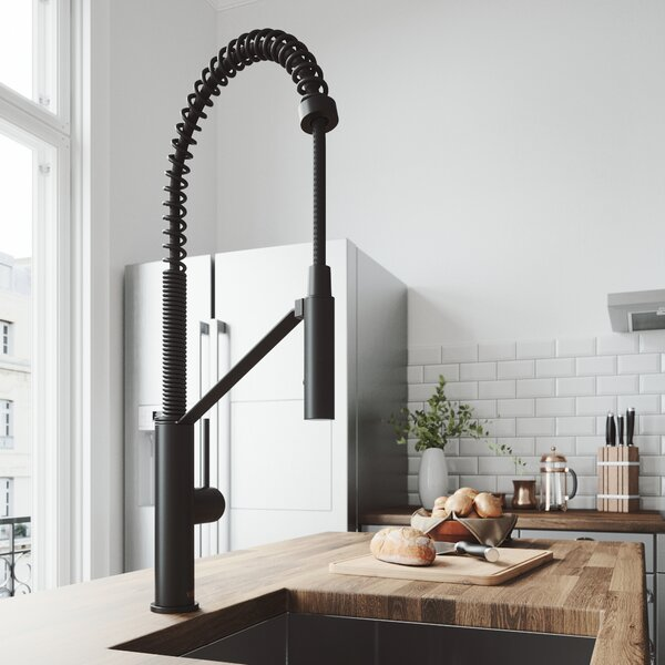 Livingston Magnetic Pull Down Single Handle Kitchen Faucet by VIGO