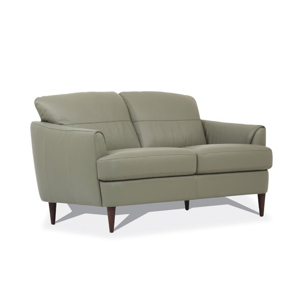 Isberga Leather Loveseat By Ebern Designs