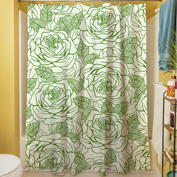 Rose Tonic Shower Curtain by Manual Woodworkers & Weavers