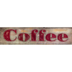 'Coffee' Textual Art on Wood by Red Horse Arts