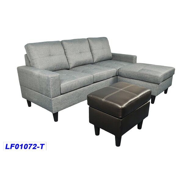 Straka Reversible Modular Sectional with Ottoman by Ebern Designs