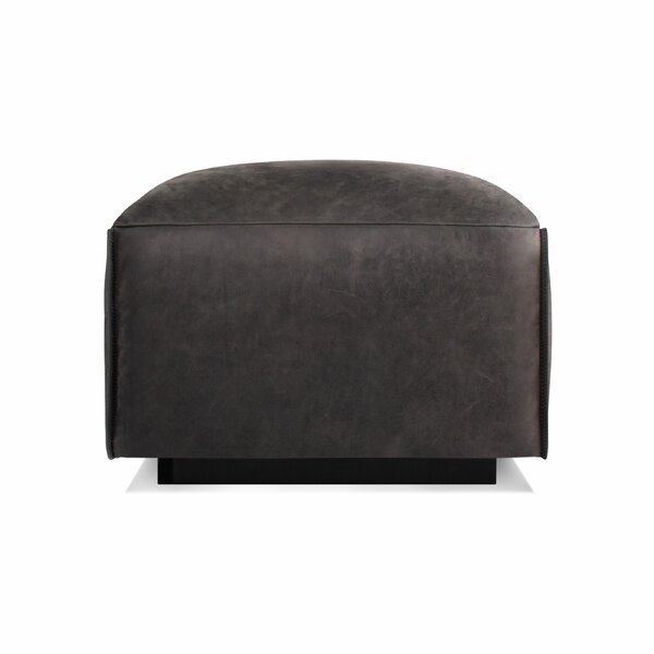 Cleon Leather Ottoman by Blu Dot