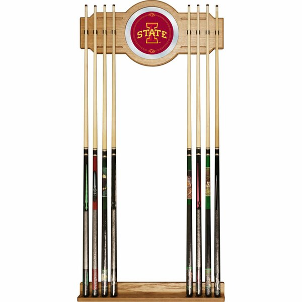NCAA Wood and Mirror Wall Cue Rack by Trademark Global