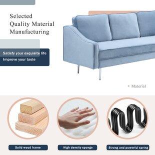 Morden Upholstered Sofa Set by Everly Quinn