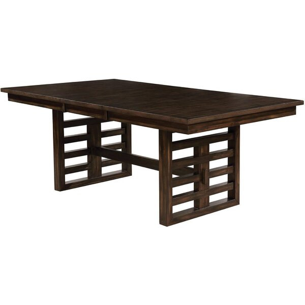 Francene Solid Wood Dining Table by Union Rustic
