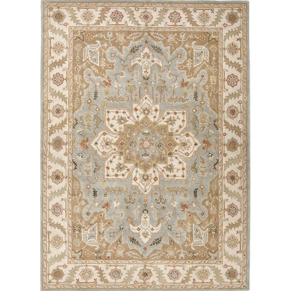 Trinningham Hand-Tufted Blue/Ivory Area Rug by Charlton Home