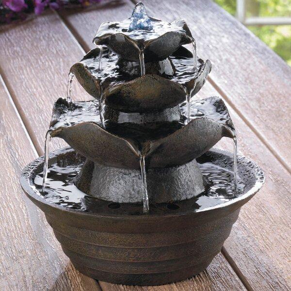 Zingz U0026 Thingz Fiberglass Lotus Tabletop Water Fountain U0026 Reviews | Wayfair