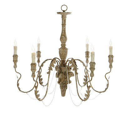 Charlemagne 6-Light Candle-Style Chandelier