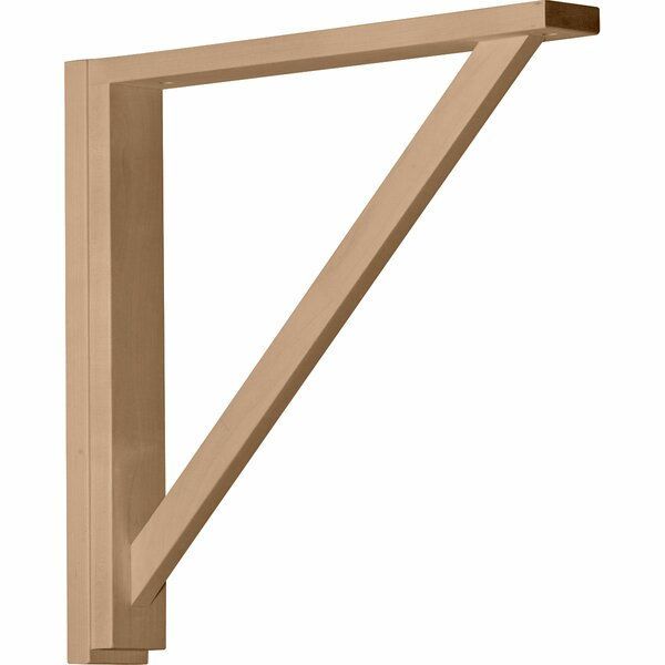 Traditional 17 1/4H x 2 1/2W x 17 3/4D Shelf Bracket in Red Oak by Ekena Millwork