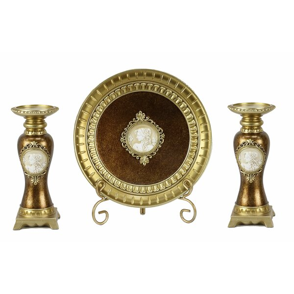 4 Piece Hand-Crafted Candlestick by Astoria Grand