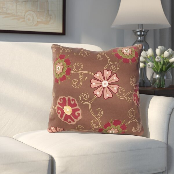 Fellers Fashionable Floral Cotton Throw Pillow by Three Posts