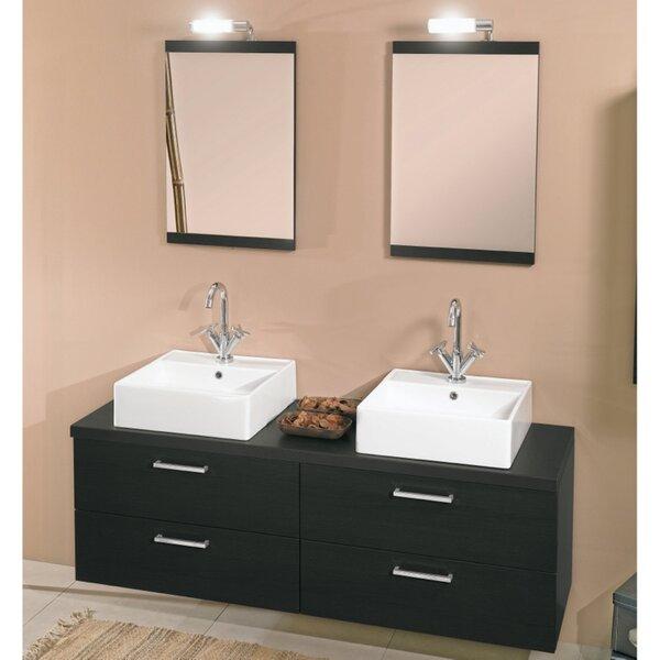 Aurora 60 Double Bathroom Vanity Set with Mirror