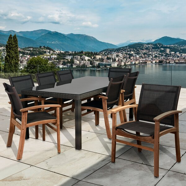 Branco 9 Piece Teak Dining Set by Brayden Studio